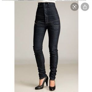 Diesel Thainee high waisted corset skinny jeans 29